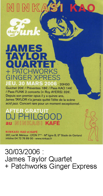 James Taylor Quartet et Patchworks Ginger Express