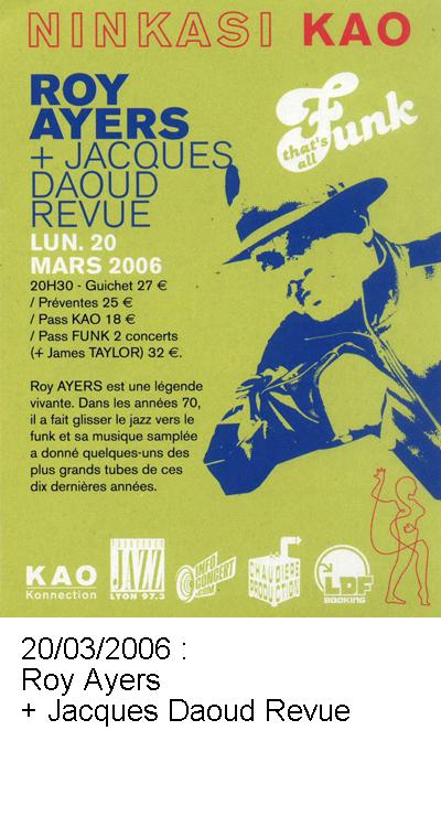 Roy Ayers et Jacques Daoud Revue